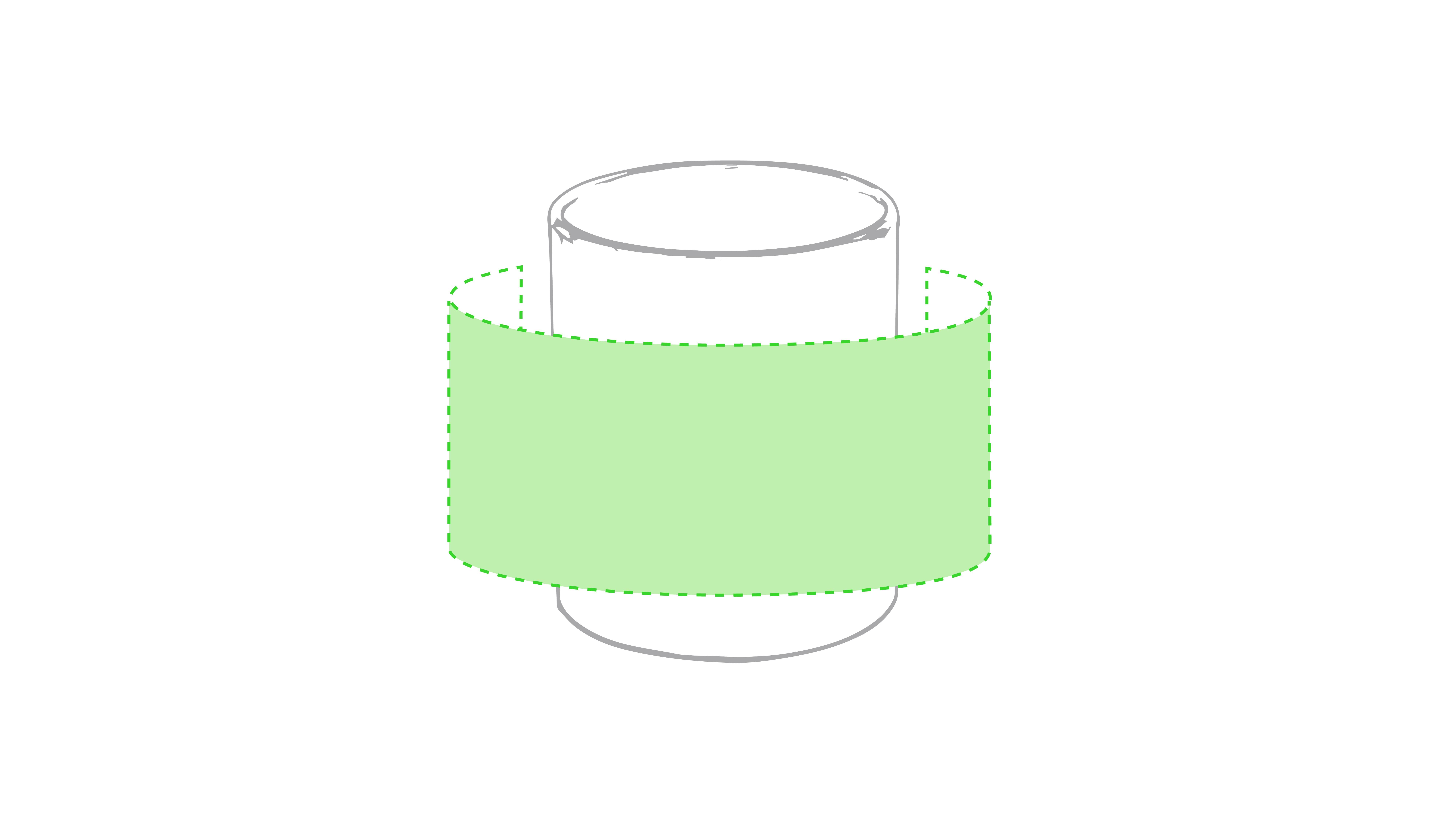Alrededor de la taza - 20 x 8 cm